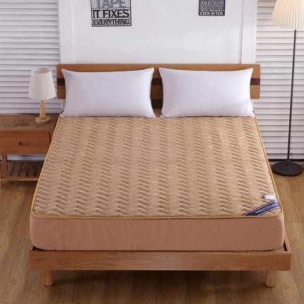 米帛床垫 空气层针织棉夹棉床笠驼色