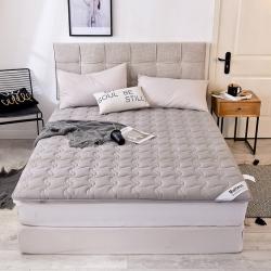 米帛2019新款水洗棉加厚防滑床垫深灰可折叠榻榻米床褥 灰