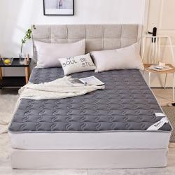 (总)米帛2019新款水洗棉床护垫 深灰可折叠可水洗床褥垫背
