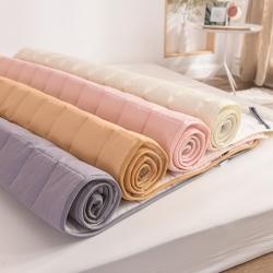 (總)米帛床墊2019新款全棉舒適床護墊床墊可折疊水洗機洗