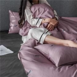 (总)莱登卡奴 2019全棉轻奢风工艺款四件套床笠款