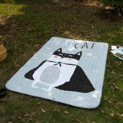 原良居家纺 新品防水系列长方形地垫 酷猫