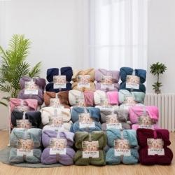 (总)欧邦毯业 NEW双层羊羔绒毛毯ins法兰绒&法莱绒毯子