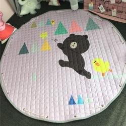美乐迪家纺 新款收纳地垫布朗熊追蝴蝶