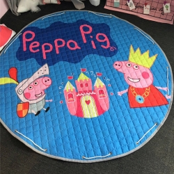 美乐迪家纺 新款收纳地垫佩琪与乔治城堡
