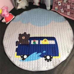 美乐迪家纺 新款收纳地垫雨天布朗熊