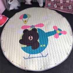 美乐迪家纺 新款收纳地垫直升飞机布朗熊
