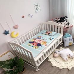 美乐迪家纺 2018婴儿卡通冰丝席凉席实拍 面包家族