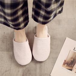 (總)彩窩窩 2019新款棉麻條紋款拖鞋