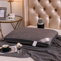 天欧(功能爆款!!)铜纤维热熔水洗枕芯全棉针织棉立体枕头护颈
