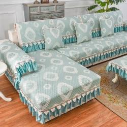 共鸣沙发垫 2019新款锦绣沙发垫锦绣绿