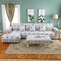 (总)共鸣沙发垫 2019新款亚麻印花沙发垫