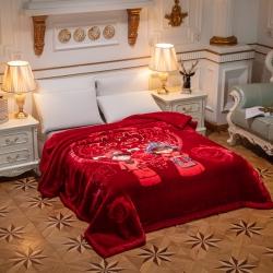 (总)凯轩毛毯 2019新款红妆婚庆加厚云毯.毛毯.婚庆毯