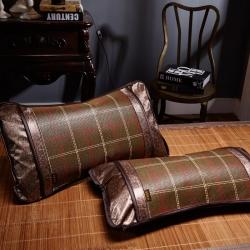 凉席枕套 冰丝 枕芯套 枕席片藤枕套 夏天凉枕套 夏季凉席