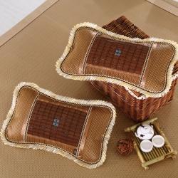 成人单人磁疗茶叶枕芯 夏天学生冰丝麻将竹藤枕头枕套