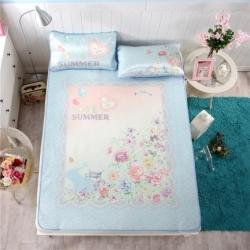 宜丝柔家纺 150D冰丝印花款(大版)凉席花卉系列夏日花园