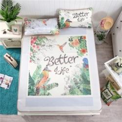 宜丝柔家纺 150D冰丝印花款(大版)凉席花卉系列热带雨林