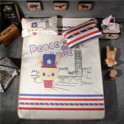 宜丝柔家纺 150D冰丝印花款(大版)凉席卡通系列伦敦绅士
