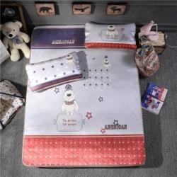 宜丝柔家纺 150D冰丝印花款(大版)凉席卡通系列英伦风尚