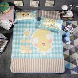 宜丝柔家纺 150D冰丝印花款(大版)凉席卡通系列小鸡很萌