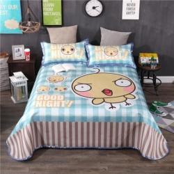 宜丝柔家纺 600D数码印花机洗床单款卡通系列小鸡很萌
