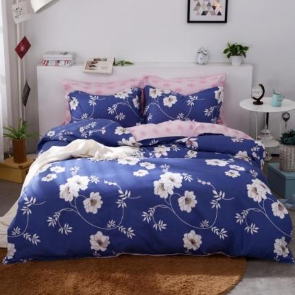 鸿悦家纺 植物羊绒140克(斜纹磨毛)四件套 花音