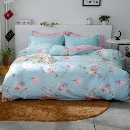 鸿悦家纺 植物羊绒140克(斜纹磨毛)四件套 浪漫国色-反面