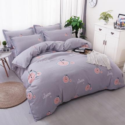 鸿悦家纺 植物羊绒120克多规格四件套 阳光甜橙