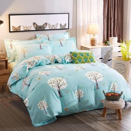 鸿悦家纺 植物羊绒120克多规格四件套 叶雨浪漫