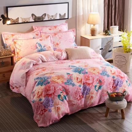 鸿悦家纺 植物羊绒120克多规格四件套 玉林花仙