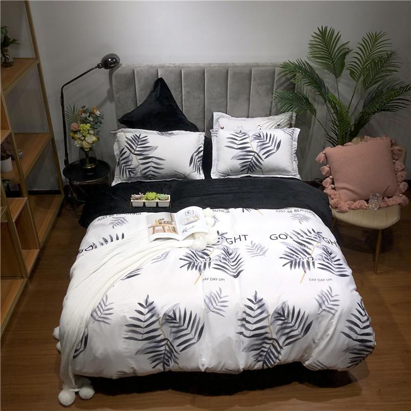 (总)最初家纺 2019棉加绒四件套床单款包装赠送