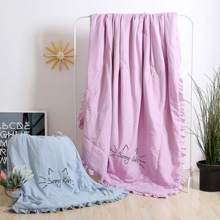 圣卓家纺 仿水洗棉夏被(绣花)时尚紫