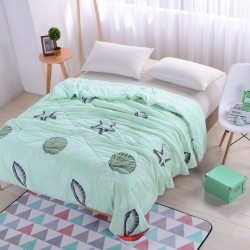 早晨家纺 水洗印花夏被 海星-绿