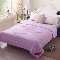 早晨家纺 无印良品风格夏被 条纹-紫