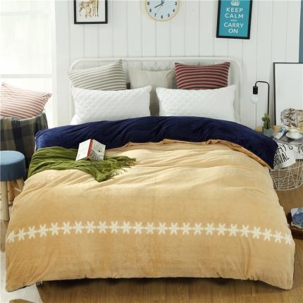 柔情黄+宝石蓝44个花色法莱绒被套【有同款法莱绒四件套毛毯】