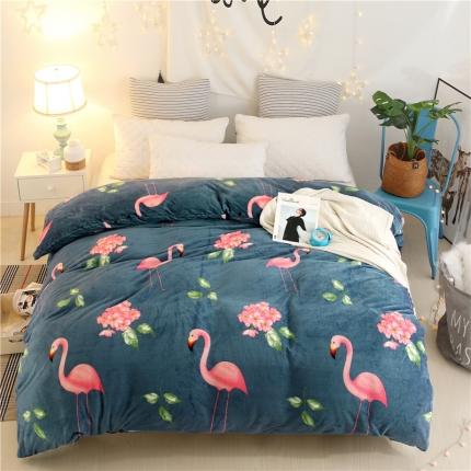 火烈鸟  44个花色法莱绒被套【有同款法莱绒四件套毛毯】