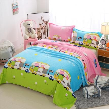 童梦园  36个法莱绒毛毯【有同款被套法莱绒四件套】