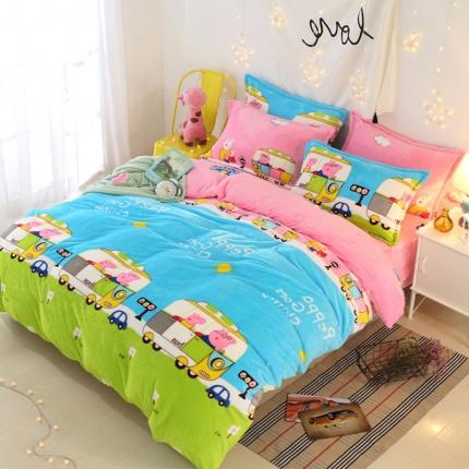 童梦园  44个法莱绒四件套床单款【所有花色床笠款可定做】