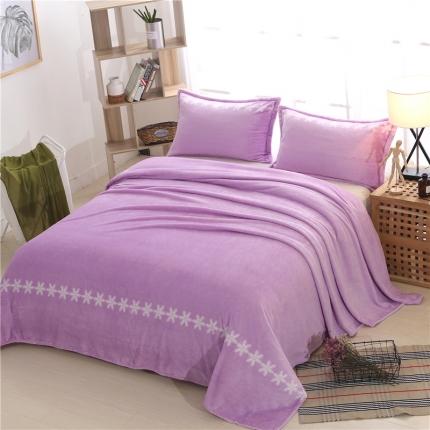 简约-丁香紫   36个法莱绒毛毯【有同款被套法莱绒四件套】