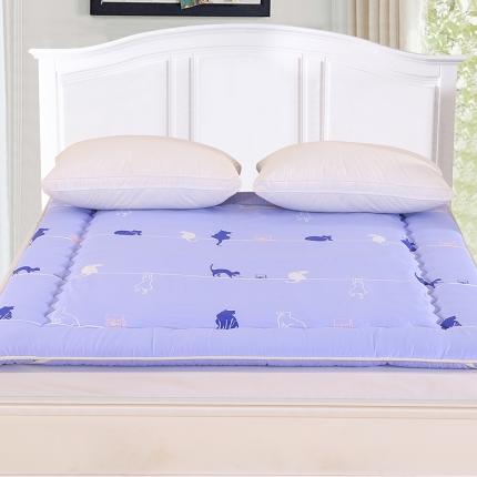 锦诺家纺 磨毛衍缝床垫蓝色海岸