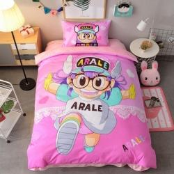 宜居家纺 大床单款卡通儿童床棉+绒三件套 阿拉蕾