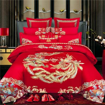 (总)喜洋洋婚庆 2019新款80S长绒棉四件套床单款