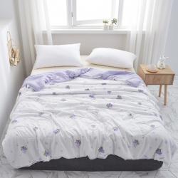 一户屋 2019水洗棉夏被新款花形促销 紫葡萄