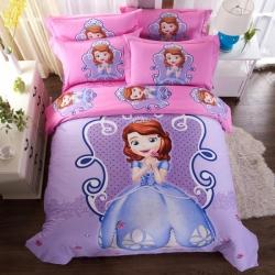 凯歌家纺 卡通四件套迪士尼正版系列床单款电子图苏菲亚公主