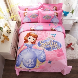 凯歌家纺 迪士尼磨毛系列四件套床单款 索菲亚花园