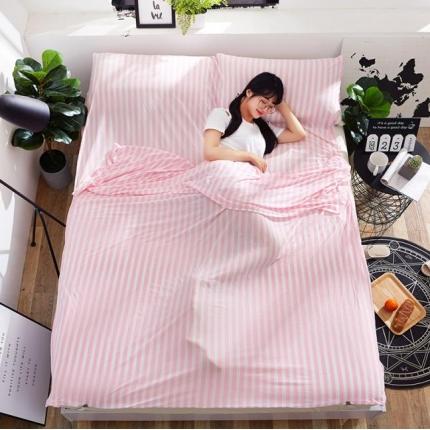 苏秦被业2018新款针织睡袋宾馆隔脏睡袋旅行睡袋粉色