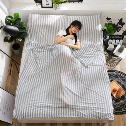 苏秦被业2018新款针织睡袋宾馆隔脏睡袋旅行睡袋灰色
