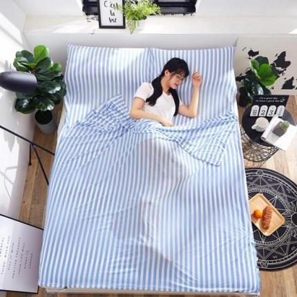 苏秦被业2018新款针织睡袋宾馆隔脏睡袋旅行睡袋蓝色