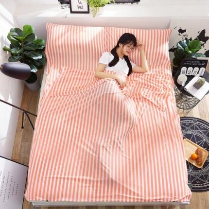苏秦被业2018新款针织睡袋宾馆隔脏睡袋旅行睡袋水红色
