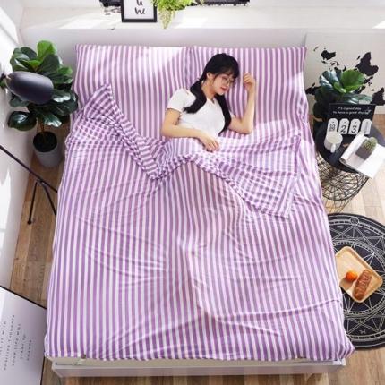 苏秦被业2018新款针织睡袋宾馆隔脏睡袋旅行睡袋紫色